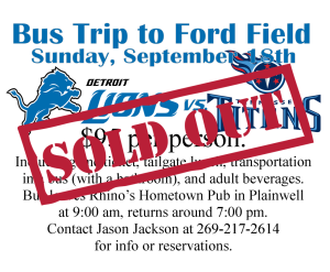 Bus trip Flyer Sold out